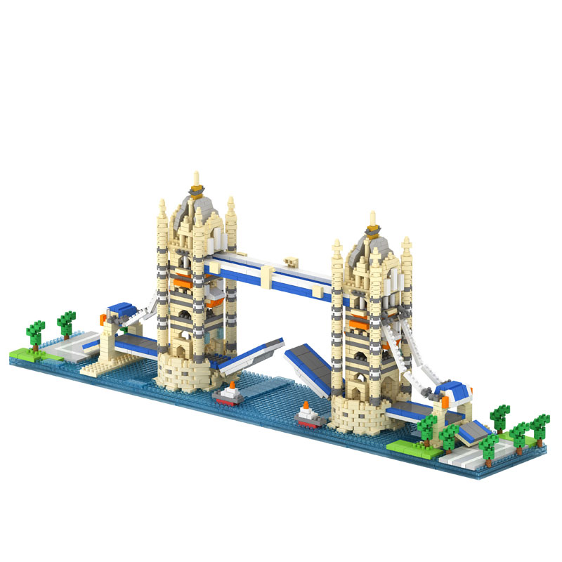 Twin Bridge Twin Towers Big Ben in London Arc de Triomphe Model Compatible LOZ Building Blocks Best Educational Toy for Children