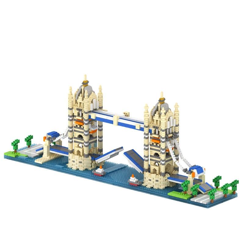 Twin Bridge Twin Towers Big Ben in London Arc de Triomphe Model Compatible LOZ Building Blocks Best Educational Toy for Children barchester towers