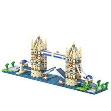 Twin Twin Towers Bridge Big Ben em Londres Arc de triunfo Modelo Compatível LOZ Blocos de Construção Melhor Brinquedo Educativo para crianças