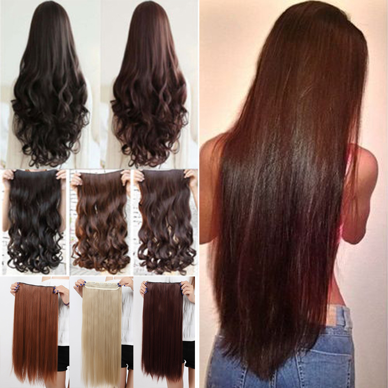 Real thick clip in hair extension blonde brown long clip hair real thick clip in hair extension blonde brown long clip hair extensions 34 full head noble sythetic hair on aliexpress alibaba group pmusecretfo Images