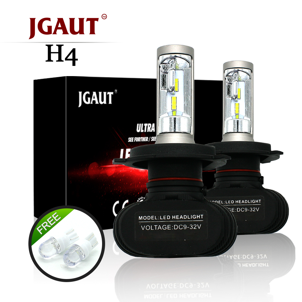 JGAUT S1 Headlights H1 H3 H4 H7 H11 9005 9006 9004 9012 880 881 LED Car Headlight Bulb 50W 8000LM 6500K Auto Led Headlamp12v
