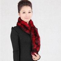 Factory Direct Sales Ladies Warm Winter Rabbit Hair Scarf Korean Female Fur Scarves Wholesale
