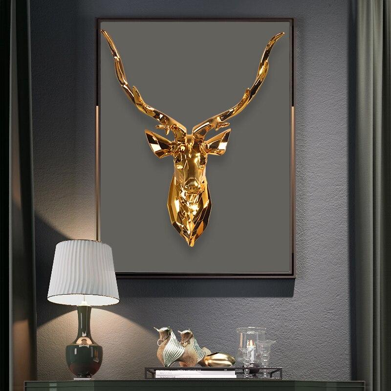 Décoration nordique Hoom les Points de vie sont parsemés de têtes de cerf suspendues à leurs têtes décoration de chambre