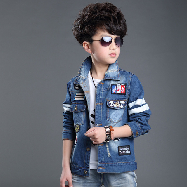 f76bc2dd3 2015 autumn baby boys clothes blue cotton Long sleeve Cowboy fashion ...