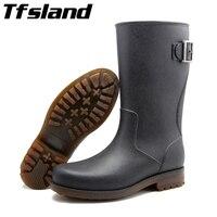 Hombres hebillas lluvia Botas alemán suave sobre Zapatos Pesca goma impermeable Zapatos lluvia Botas sneakers wellies Zapatos para deportes acuáticos