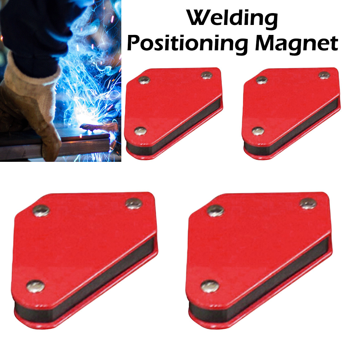 4 Pcs/set Mini Triangle-Welding Positioner 9Lb Magnetic Fixed Angle Soldering Locator Tools Without Switch Welding Accessories