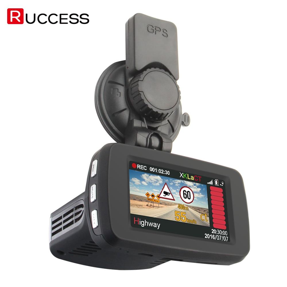 Ruccess Антирадары видео Видеорегистраторы для автомобилей Антирадары GPS Logger 3 в 1 русская тире Камера Full HD Скорость анти радары