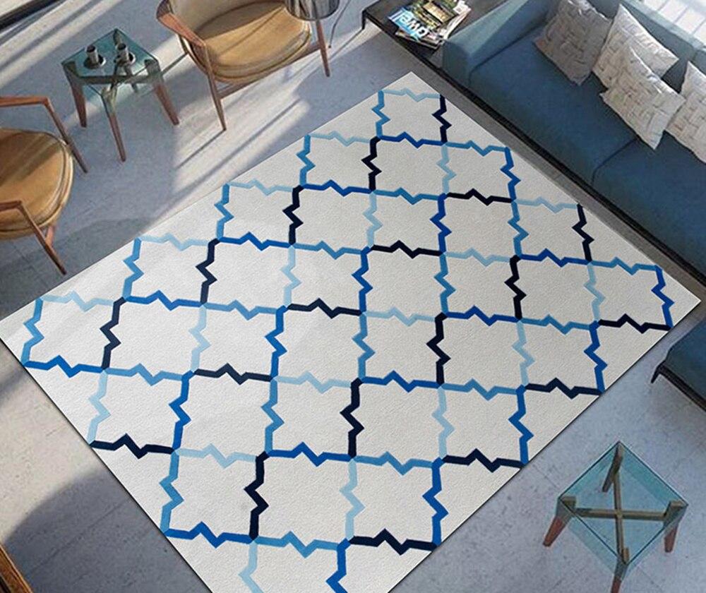 Handmade acr lico em forma de tapetes de carpete e tapetes for Sala de estar tapete