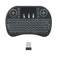 2 4G Backlit Wireless Keyboard Air Mouse Touchpad Remote Control Black Blue Green Red Backlight Changeable