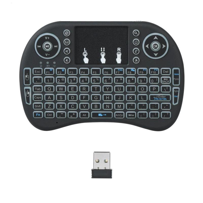 2.4G Backlit Wireless Keyboard Air Mouse Touchpad Remote Control Black Blue Green Red Backlight Changeable for Android TV BOX PC neworig keyboard bezel palmrest cover lenovo thinkpad t540p w54 touchpad without fingerprint 04x5544