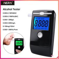 Yieryi AT5500 Portable Digital Breath Alcohol Tester Accuracy Breathalyzer LED Screen with 5pcs Transparent Mouthpieces