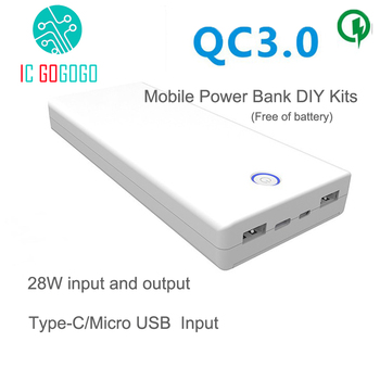 Free Welding QC3.0 Mobile Power Bank DIY Kits 8X18650 Battery Two-way Quick Charge Circuit Board Dual OutputInput 5V 9V 12V Сварка