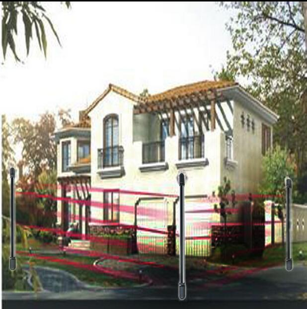 Alarm Intrusion Protection Outdoor 4 Beams 60m Infrared Barrier Detector For Vailla Home Garden Yard Factory  Window, Door, Gate