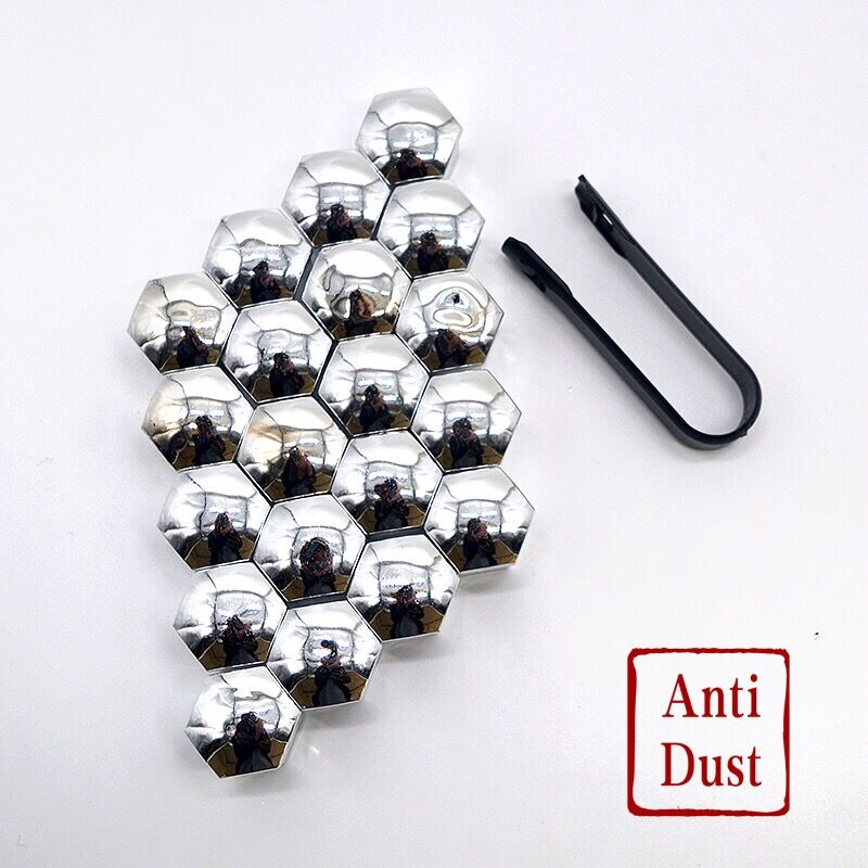 20Pcs Universal Anti-Rust 17 19mm Chrome Glossy ABS Auto Trim Tyre Wheel Nut Screw Bolt Protection Covers Caps Car Styling20Pcs Universal Anti-Rust 17 19mm Chrome Glossy ABS Auto Trim Tyre Wheel Nut Screw Bolt Protection Covers Caps Car Styling