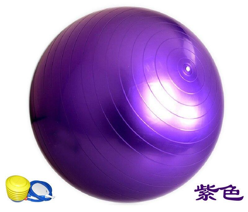 New 65cm (25.5'') Purple Yoga Ball With Pump Free Health ...