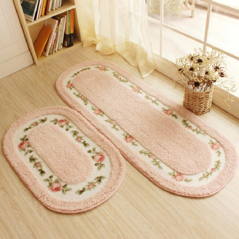 Rustic small flower waterproof absorbent carpet rug blanket doormat floor bedroom Living room mats tapetes de sala lfombras area