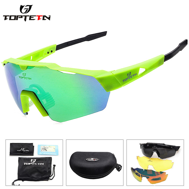 4a203f1cab2 Aliexpress.com   Buy 2018 NEW 3 Lens Brand Design Outdoor Sports Polarized  Cycling Glasses Eyewear TR90 Men Women Bike Bicycle Sunglasses MTB Goggles  from ...