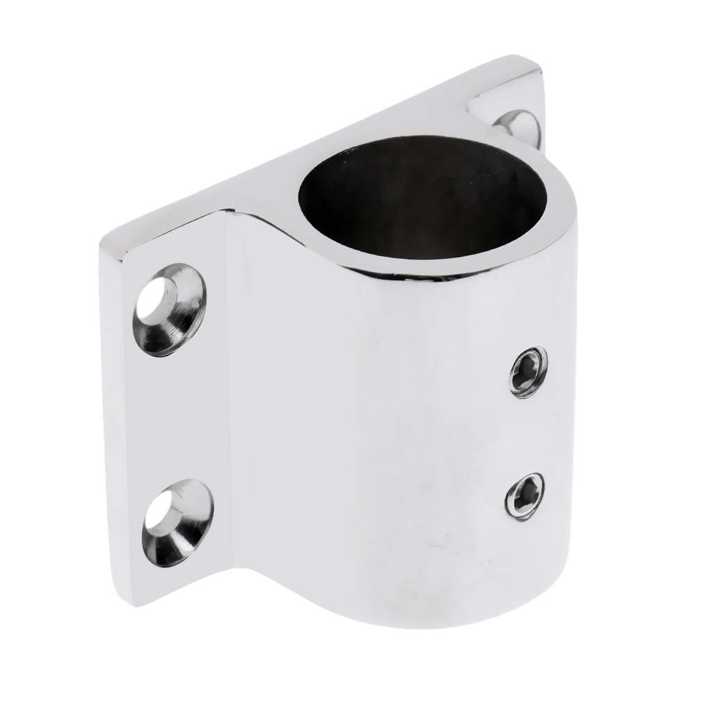 Heavy Duty Boat Hand Rail Fitting 1 inch Rectangle Stanchion Base 90 Degree