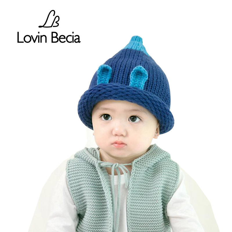 Lovinbecia Toddler Boys Spring Winter Warm Knitted Caps Children Beanies Thick cute fashion Caps Kids girls Cotton Hat Wholesale