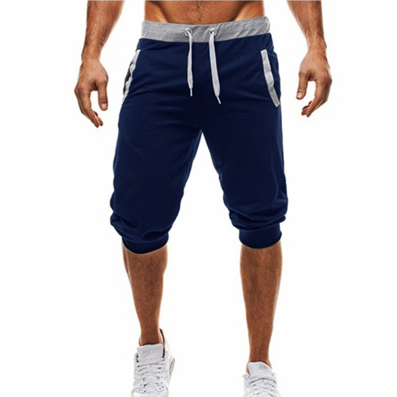 Mens Baggy Jogger Casual Slim Harem Shorts Soft 3/4 Trousers Fashion New Brand Men Sweatpants Summer Comfy Male Shorts 2019 Ne