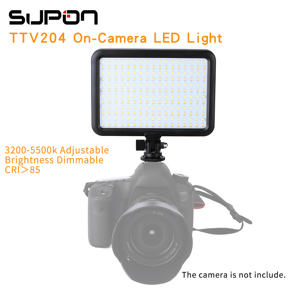 Triopo TTV 204 Photographic Equipment LED Camera font b Video b font Light Lamp Panel 3200K