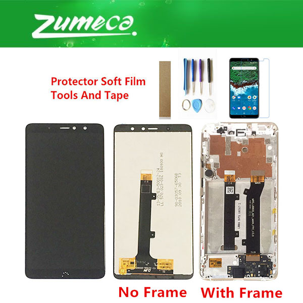 Without/With Frame For BQ Aquaris X2 BQ X2 Pro LCD Display Screen+Touch Screen Digitizer Assembly Black Color With Kits