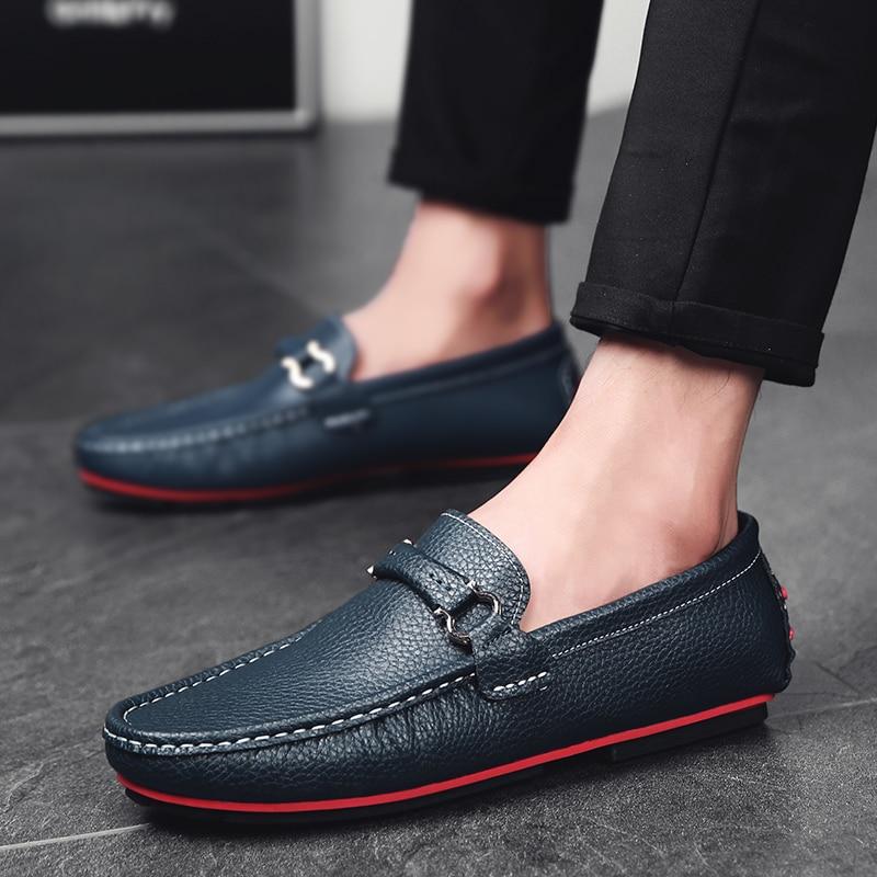 Qualité Doux Cuir Conduite 1 Appartements Gommino 3 2 Haute Style Mocassins Chaussures Mode D'été Véritable De Hommes En 8wEqEYf