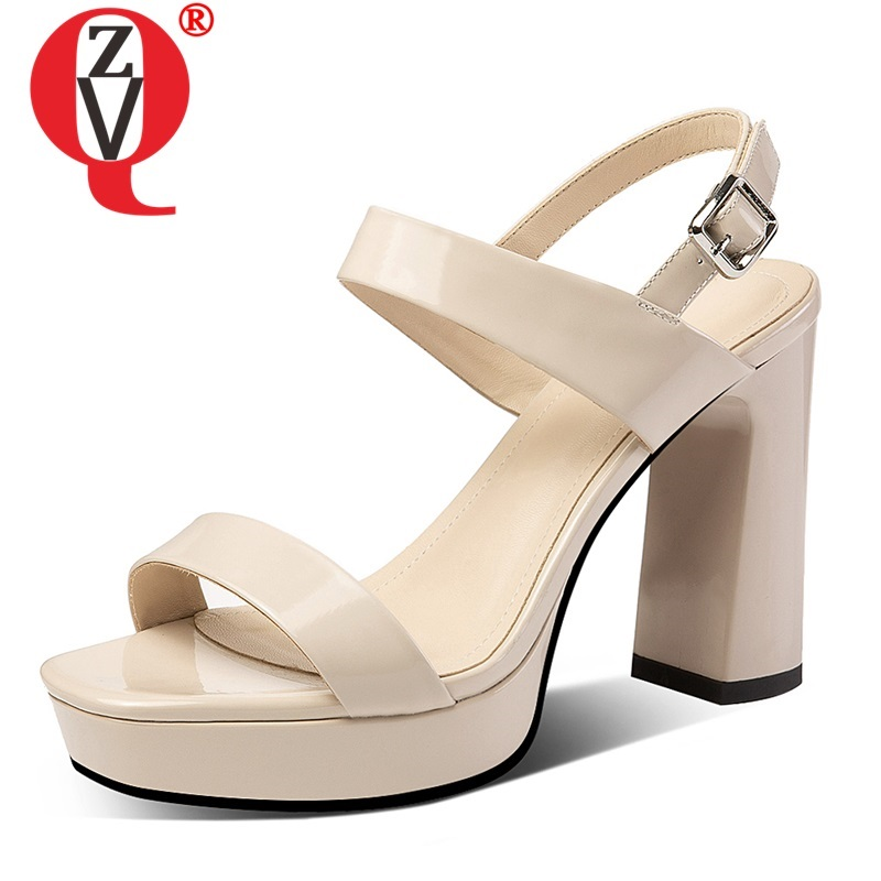 ZVQ woman shoes summer newest fashion super high heels platform party woman sandals outside sexy buckle ladies shoes size 34-39 ZVQ woman shoes summer newest fashion super high heels platform party woman sandals outside sexy buckle ladies shoes size 34-39