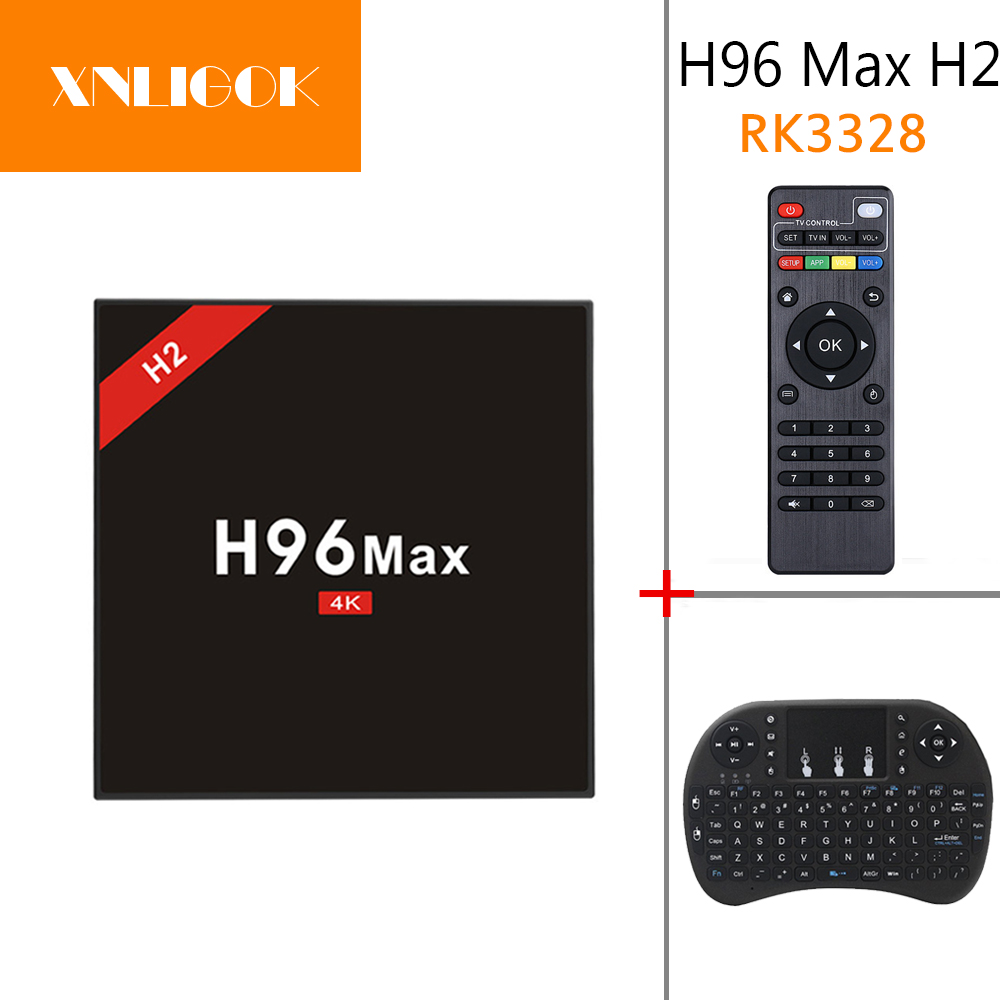 H96 MAX H2 TV Box RK3328 Quad Core Android 7.1 OS 4GB RAM 32GB ROM 4K Media Player wifi 2.4G/5G USB 3.0 5pcs android tv box tvip 410 412 box amlogic quad core 4gb android linux dual os smart tv box support h 265 airplay dlna 250 254