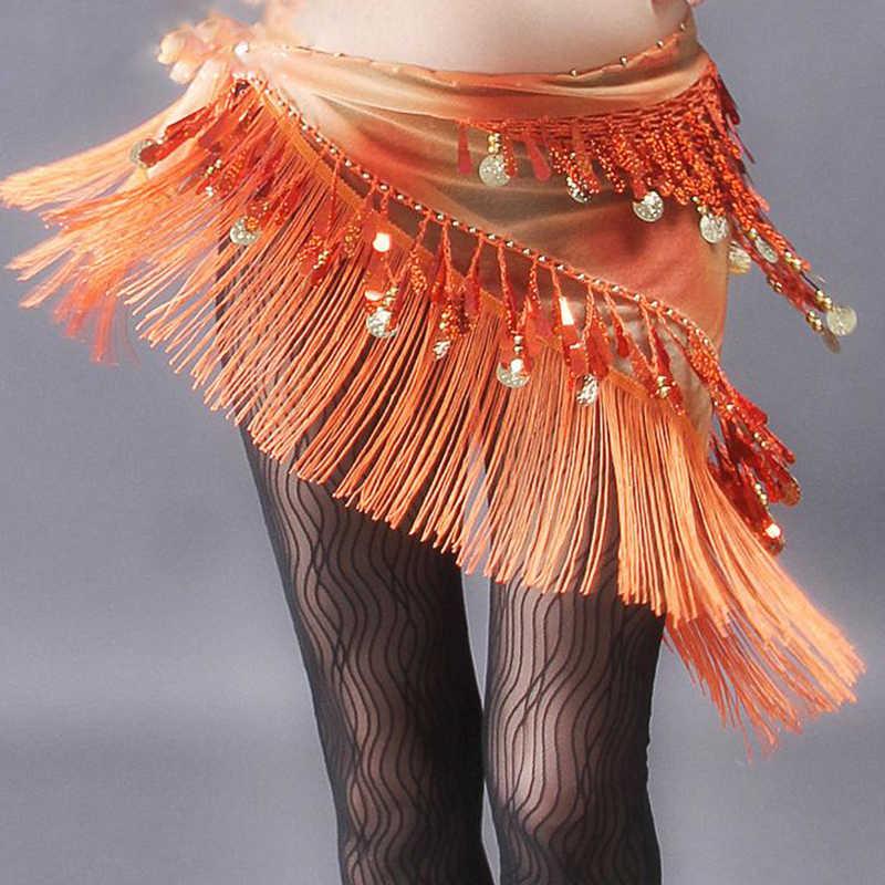 חדש כניסות בטן ריקוד בגדי אביזרי ציצית לעטוף נמתח רשת בסיס נשים ריקודי בטן חגורות שוליים ירך צעיף