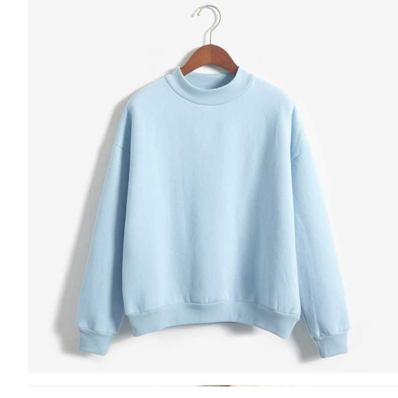 Women's Thick Velvet Solid Color Loose Plus Size Candy Color Collar Pullover Tops Whiskey Harajuku Riverdale Lil