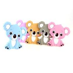TYRY. HU Koala Силиконовые Прорезыватели для зубов игрушки Детские зубные кольца DIY жевательное ожерелье инструмент для кормления кулон пищевой ...