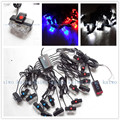03034  16x 2 LED Flash Emergency Strobe Car Grill Light Ultra Bright 32 LED 32W High Power Light