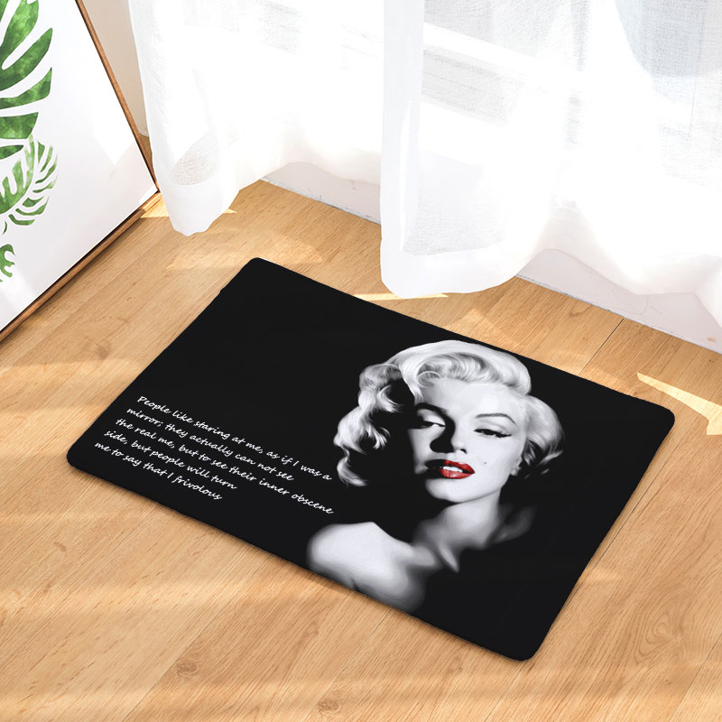 Decoruhome Entrance Waterproof Door Mat Marilyn Monroe Kitchen Rugs Bedroom Carpets Decorative Stair Mats Home Decor Crafts In From Garden On