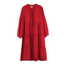 Платье для женщин размера плюс Весна 2021; Цвет красный черный;