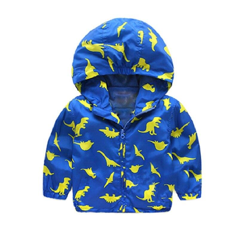 2016 Spring Autumn Small Dinosaur Boys Jackets Softshell Cartoon Animal Jacket kids Active Hoodies Outerwear High