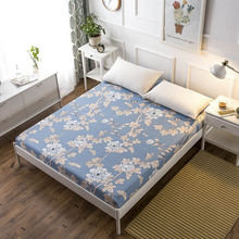Bed Sheet Without Pillowcase Pink Flower Printed Linen Queen Size Mattress Covers Fitted Sets With Elastic For King