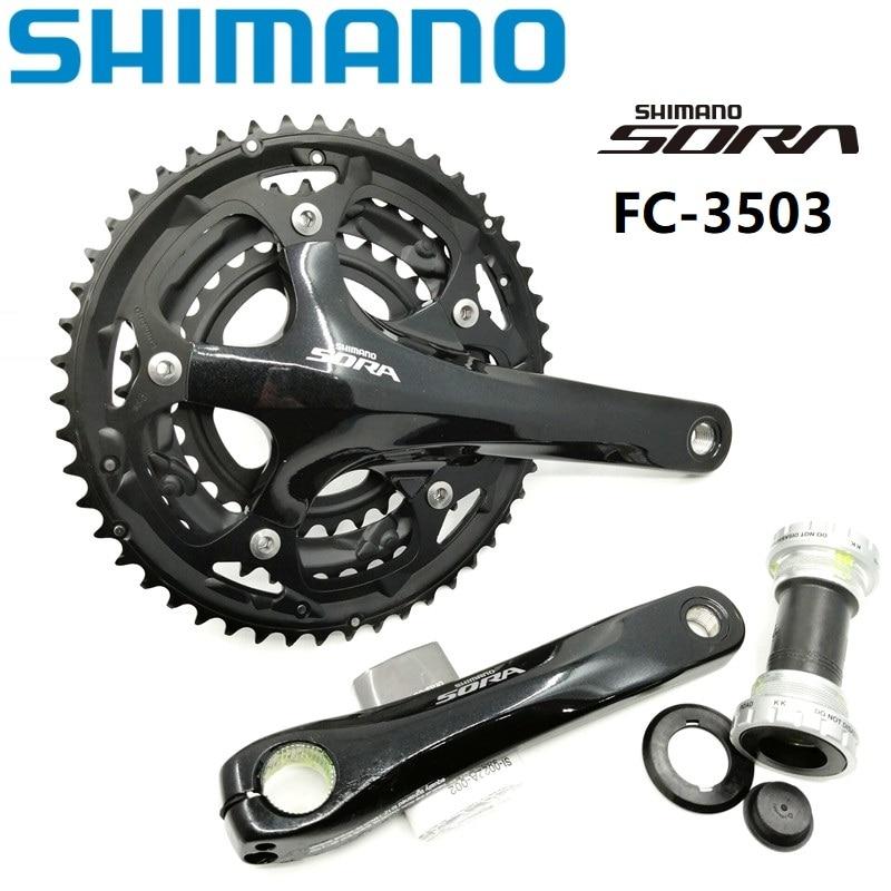 Pédalier SHIMANO SORA 3503 50/39/30 T pédalier 170mm avec pédalier de vélo de route 9/27 vitesses pédalier pliant