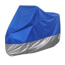 Принципиально протектор де полиэстер talla XXL (265 см) cubierta Para мото gris Y Azul