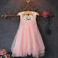 New Children Girl Flower Princess Dress Kids Party Wedding Lace Tulle Tutu Dresses 2-7Y L07