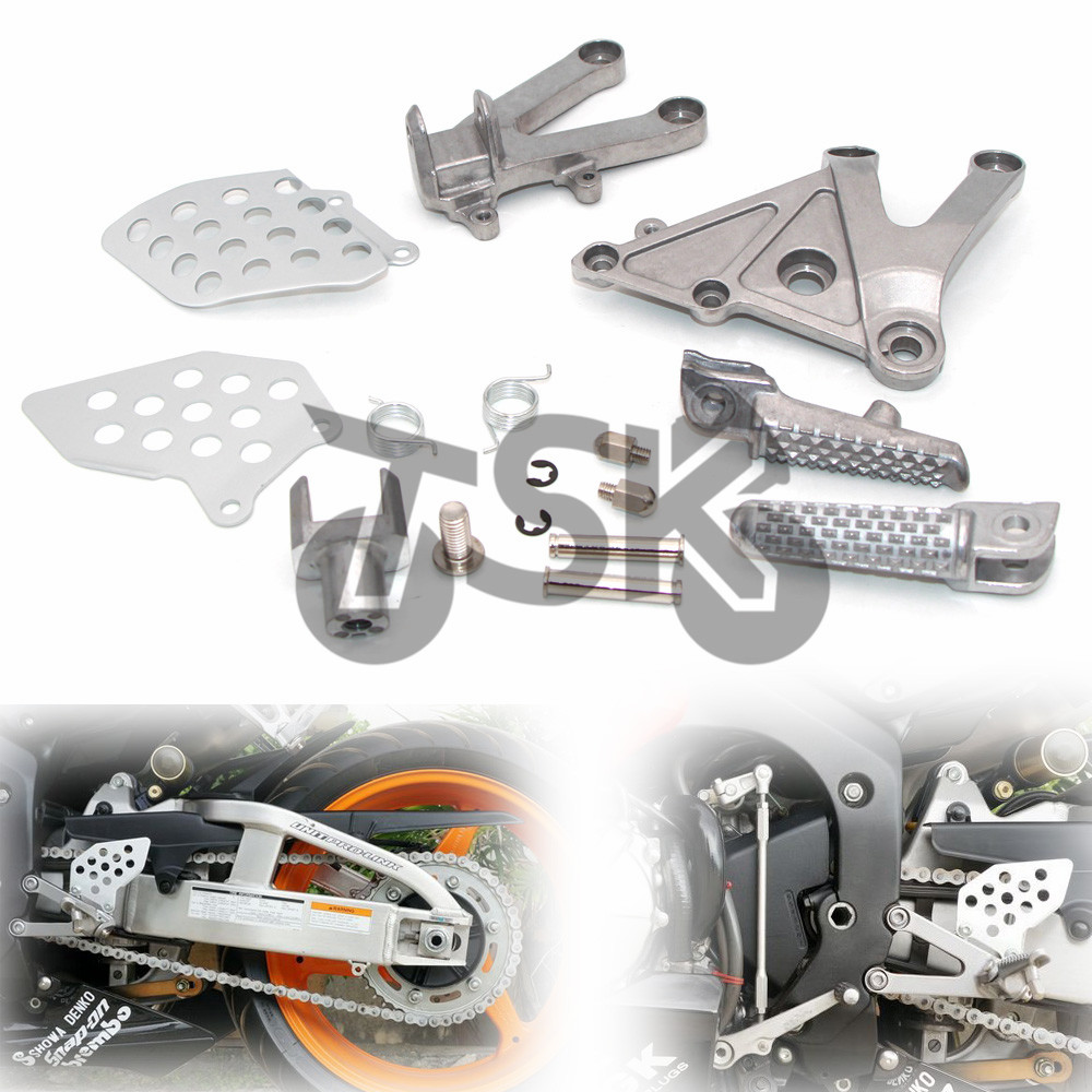 Front Rider Foot Pegs Footrest Brackets For <font><b>Honda</b></font> <font><b>CBR</b></font> <font><b>600</b></font> RR CBR600RR 2003 <font><b>2004</b></font> 2005 2006 image