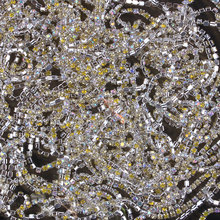 ZOTOONE SS10 1Yard Mix Yeallow Rhinestones for Clothing Stones AB Crystals Cup Chain Rhinestone Trim Sew on Ornament Accessories