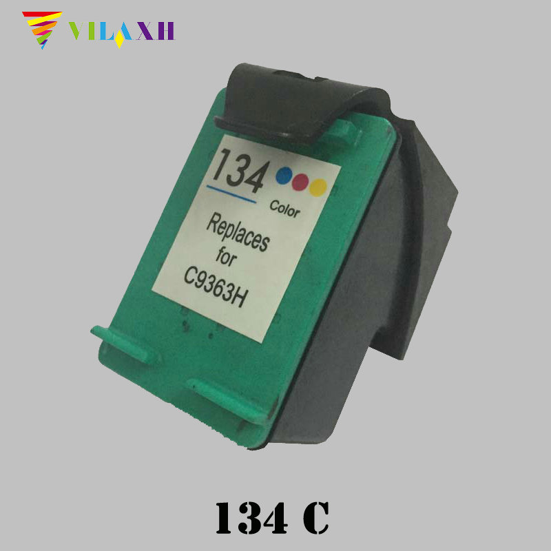 Vilaxh 134 Compatible Ink Cartridge Replacement for HP 134 For Deskjet 5743 6623 6843 6523 5943 6983 7313 7413 2713 8153 printer