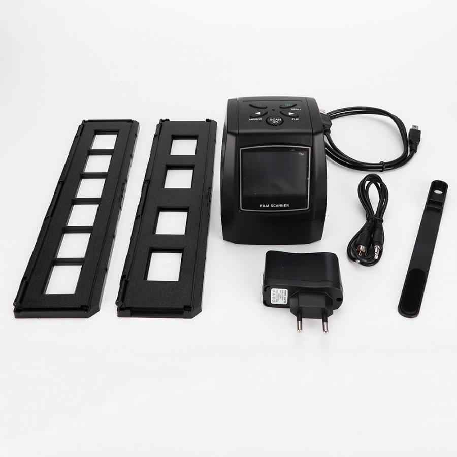 Высокое разрешение 35 мм слайд-адаптер слайды отрицательный фото сканер (ЕС вилка 100-240 В) Фото пленка сканер