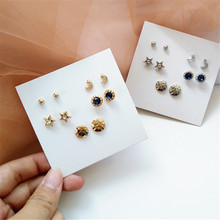 New design creative jewelry high-grade elegant crystal earrings love Gold and silver wedding party for woman