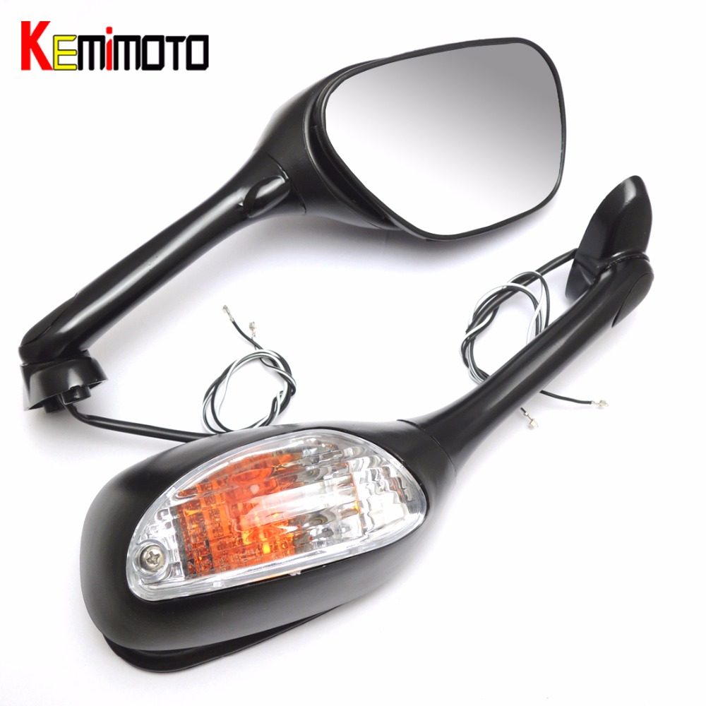 Motorcycle gloves gsxr - Kemimoto For Suzuki Gsxr 600 750 Motorcycle Rearview Mirror For Suzuki Gsxr 600 750 2006