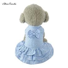 Новое Полосатое клетчатое платье для собак Милая одежда для щенков одежда короткая юбка платье новое платье 1 шт. Одежда для собак лето