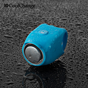 CoolChange Bicycle Bell Waterproof 360 Rotatable Electric Horn Silica Gel Shell Bike Bell Handlebar Mounting Cycling Horn Bell