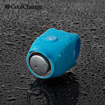 CoolChange Campanelli da bicicletta Impermeabile 360 Girevole Corno Elettrico Gel di Silice Borsette Campana Della Bici Supporto Del Manubrio Bicicletta Corno Campana