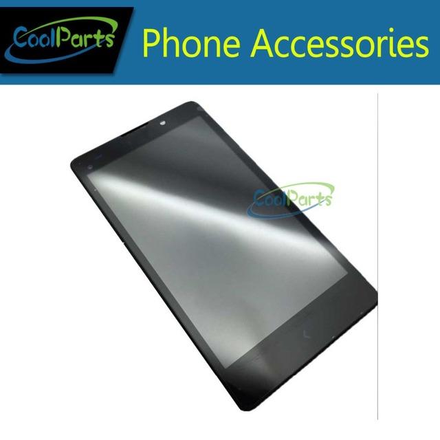 1 pçs/lote cor preta para nokia xl rm-1030 rm-1042 display lcd e de toque digitador da tela com moldura frete grátis